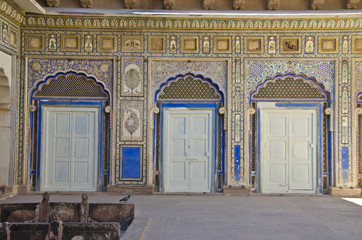 decorative historical doors in Rajasthan fort  palace