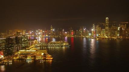 香港ビクトリアハーバーの夜景