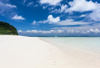 Beautiful Tropical white Sand Beach. Sipadan Island, Malaysia