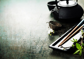 Chinese Tea Set and chopsticks