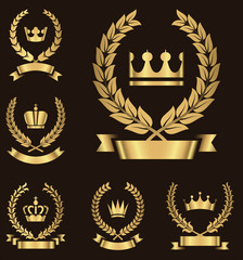 Gold Heraldry Emblems