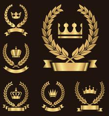 Gold Heraldry Emblems