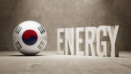 South Korea. Energy  Concept.