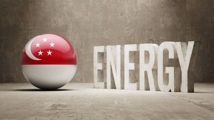 Singapore Energy  Concept.