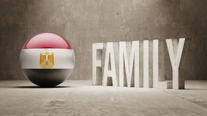Egypt. Family  Concept.