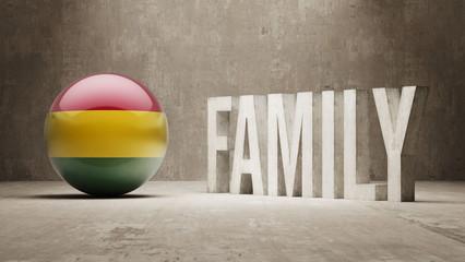 Bolivia. Family  Concept.