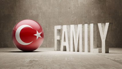 Turkey. Family  Concept.