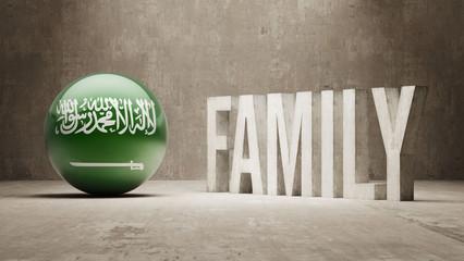 Saudi Arabia. Family  Concept.
