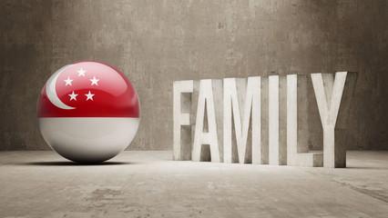 Singapore Family  Concept.