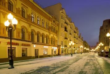 Москва. Утро на старой улице Арбат