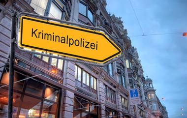Strassenschild 23 - Kriminalpolizei