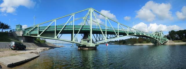 Panoramic view of metal bridge