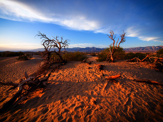 Death Valley National Park in sunset, California, USA