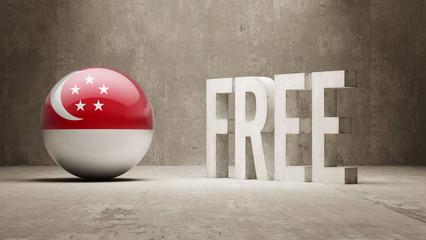 Singapore Free  Concept.