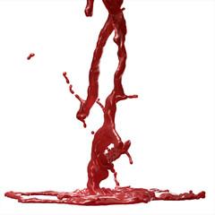 Splash of Blood, isolated on white background.