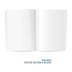 Vector illustration of magazine template