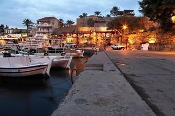 Byblos Harbor at dusk (long exposure)