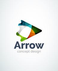 Abstract arrow logo design
