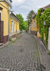 Old small street of the European town
