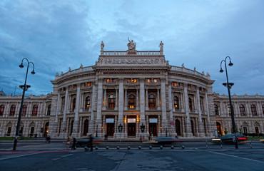 Burgtheater in the center of Vienna, Austria