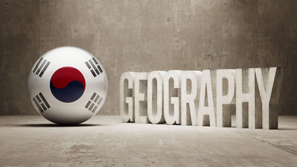 South Korea. Geography  Concept.