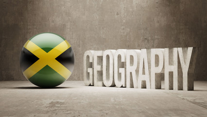Jamaica. Geography  Concept.