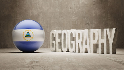 Nicaragua. Geography  Concept.