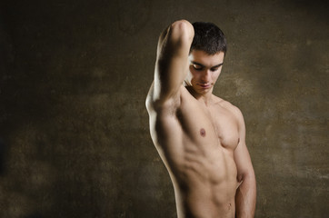 Fitness latin 20s  man posing