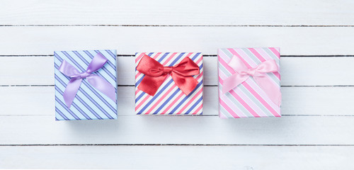 Beautiful three gifts boxes