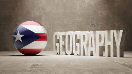 Puerto Rico. Geography  Concept.