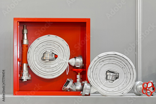 Leinwanddruck Bild Fire hose equipment
