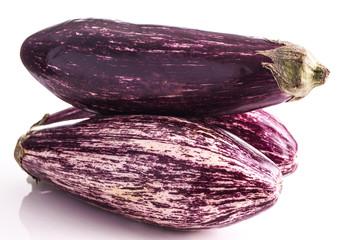 Striped healthy eggplant