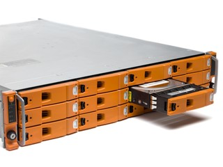 cropped image of network server