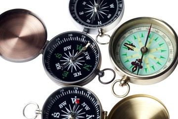 cropped image of three compass