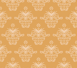 Vintage background. Royal ornament.