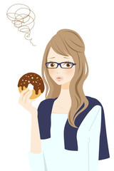 ダイエット中の女性 困る