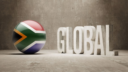 South Africa. Global  Concept.