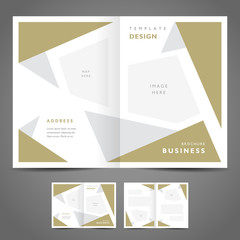brochure design template abstract figure polygonal
