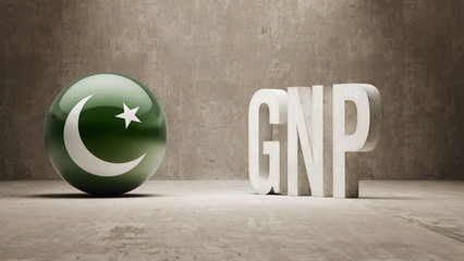 Pakistan. GNP  Concept.