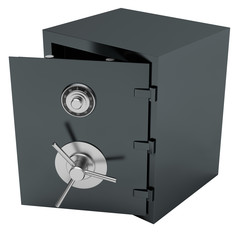 Open Bank Steel Safe.