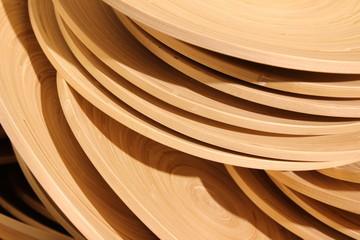 Concentric circles of bamboo texture