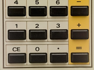 push buttons of a calculator