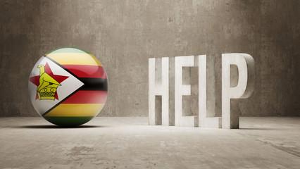 Zimbabwe. Help  Concept.