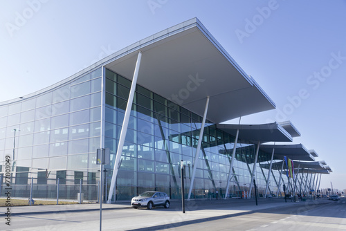 modern international airport in Wroclaw, poland - 77803049