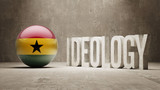 Ghana. Ideology  Concept. poster
