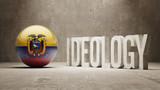 Ecuador. Ideology  Concept. poster