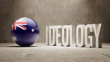 Australia. Ideology  Concept. poster