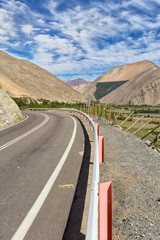 Straße Valle de Elqui