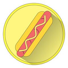 Icon hot dog. Raster