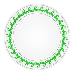 Plate with a pattern. Raster